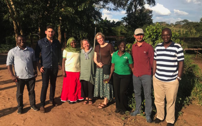 Impact investing team on a field visit in Uganda